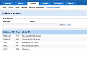 Matpe: Orden, Catálogo de tarifas, de administración de cuentas