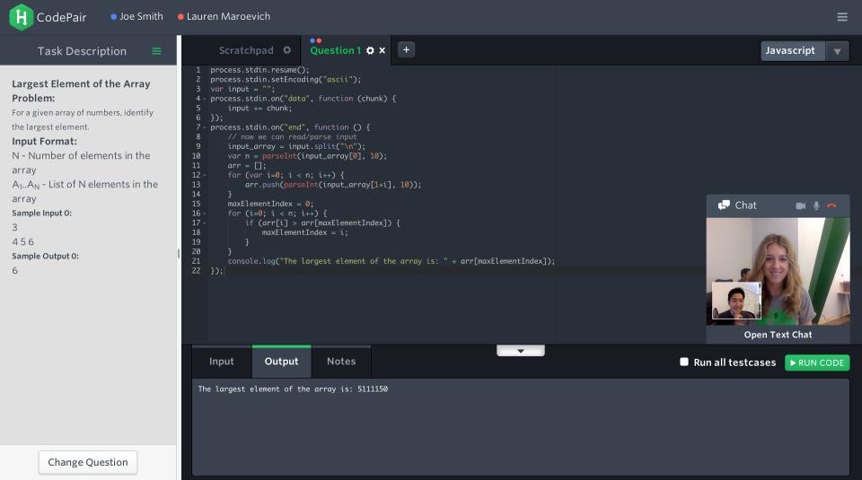 HackerRank de pantalla-2