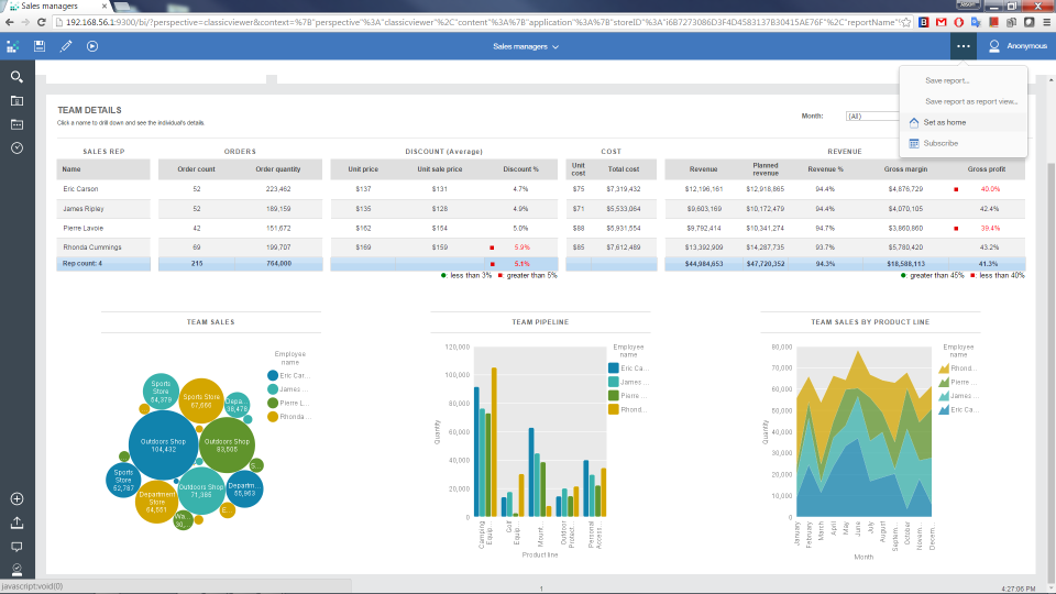 IBM Cognos Analytics pantalla-1