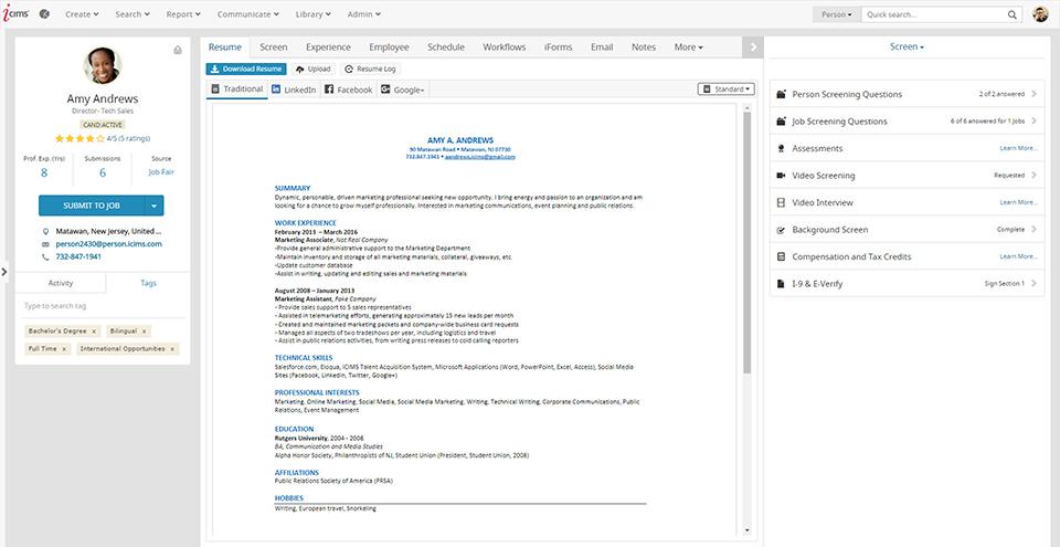 iCIMS Adquisición de Talento Suite-pantalla-3