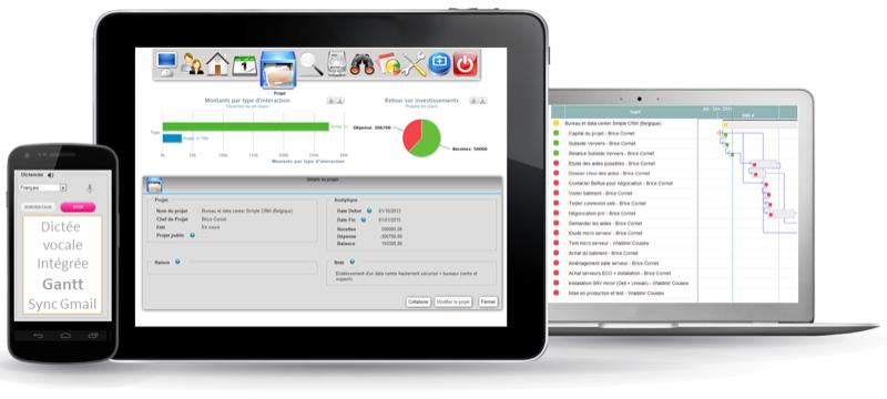 CRM sencilla interfaz web adaptativo, solicitudes personalizadas, Geolocalización cliente