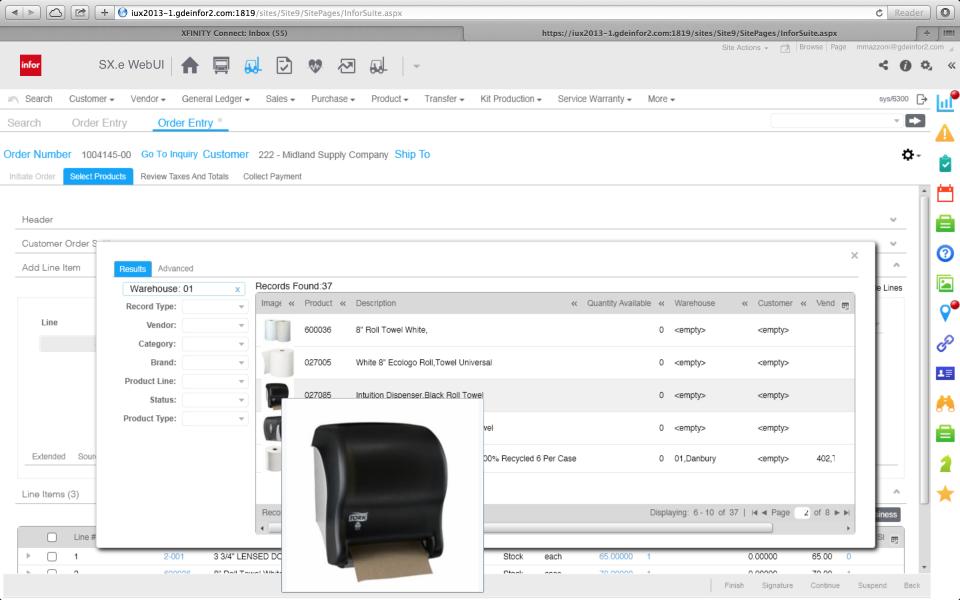 ERP Infor para la distribución de pantalla-0