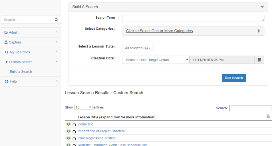 Las lecciones aprendidas de base de datos de pantalla-2