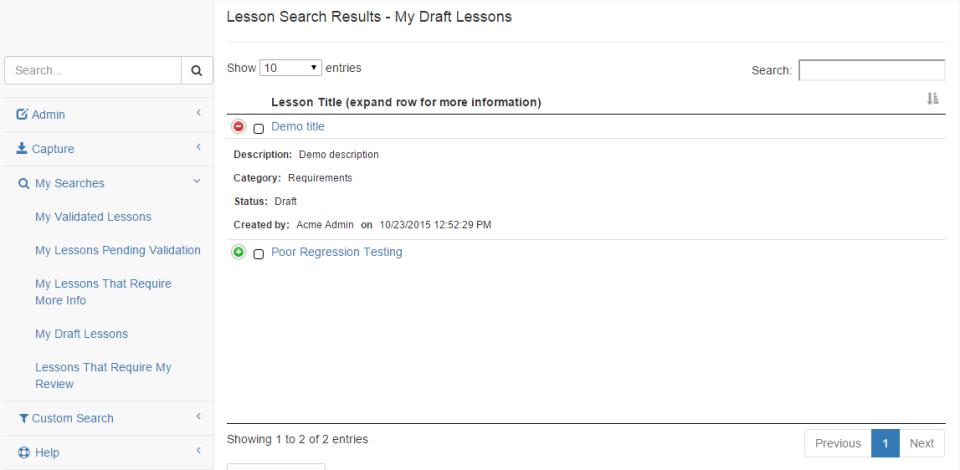 Las lecciones aprendidas de base de datos de pantalla-3
