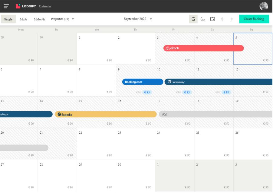 Calendario centralizado