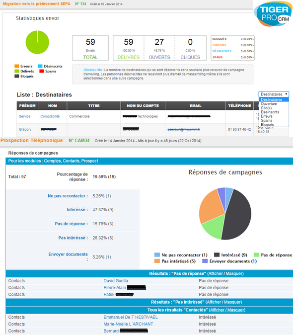 TigerPro CRM: prospección, tareas y notas, modo sin conexión