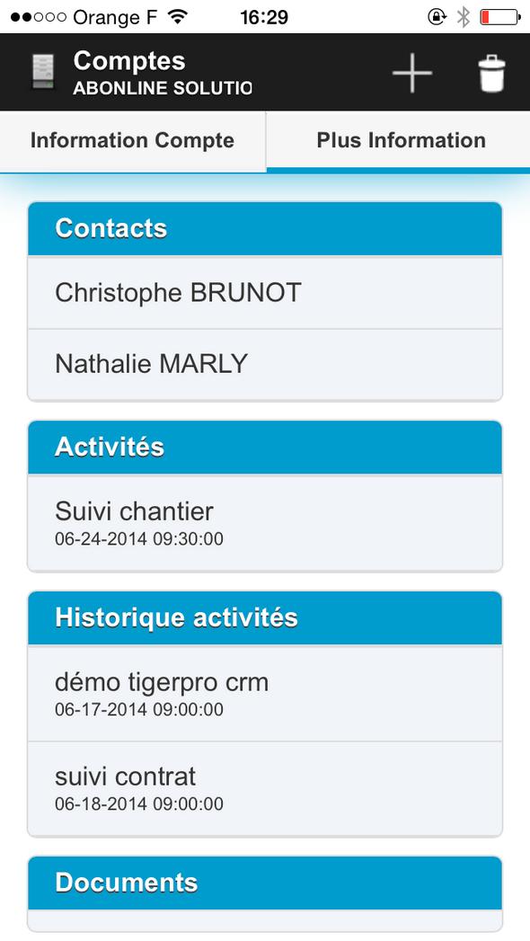 Gestión TigerPro CRM Campaña, aplicaciones móviles, tareas y notas