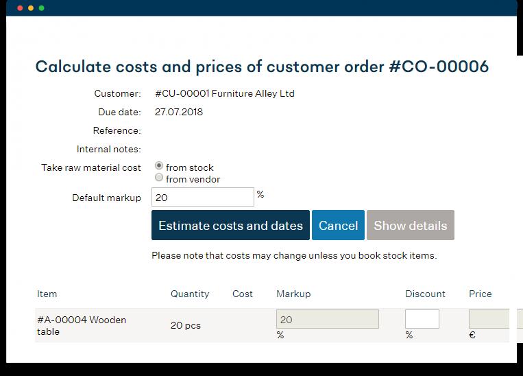 Estimación de costos y plazos de entrega