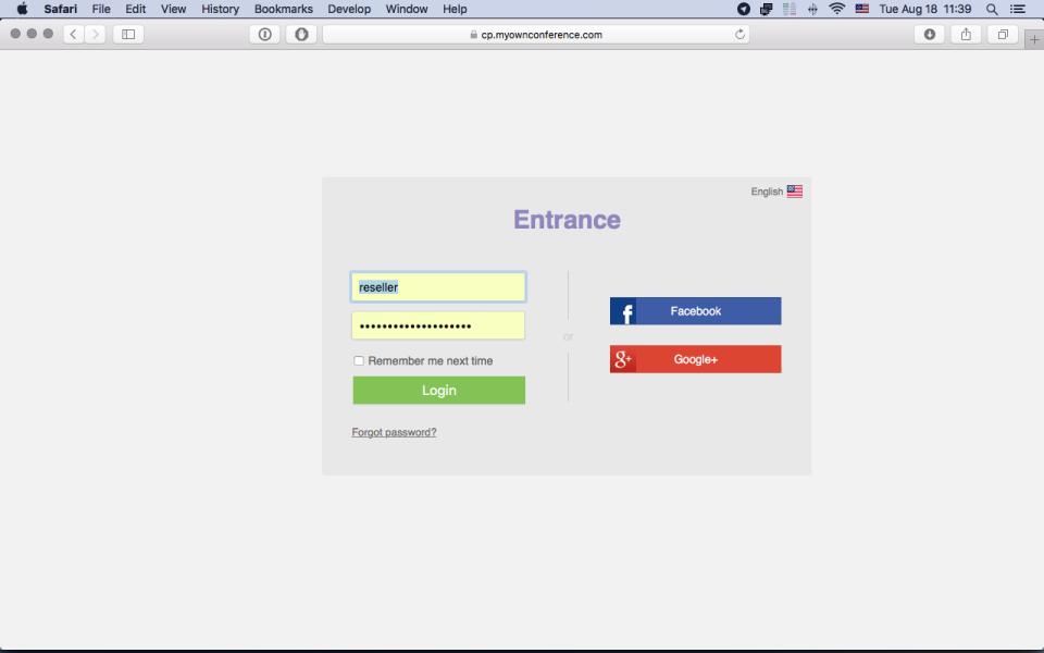MyOwnConference de pantalla-2