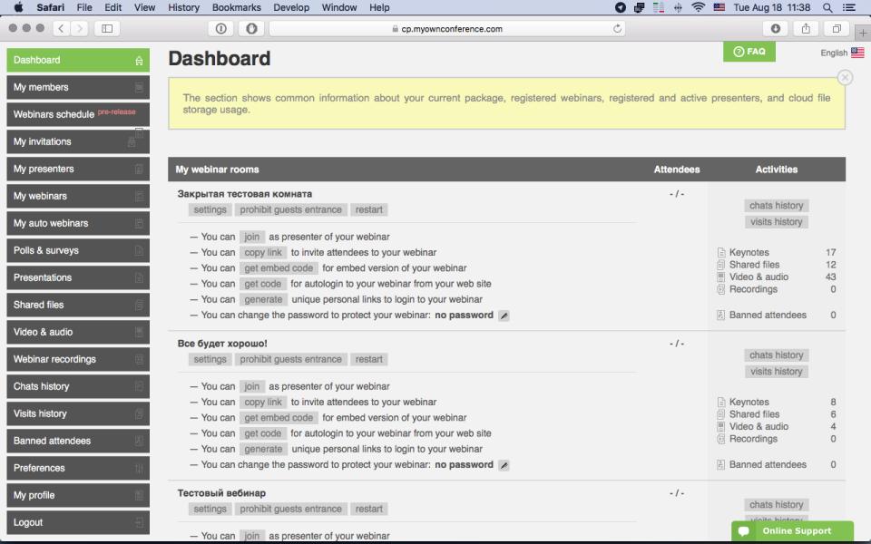 MyOwnConference de pantalla-3