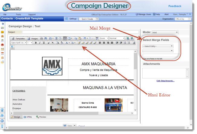 OfficeClip administración de contactos de pantalla-2