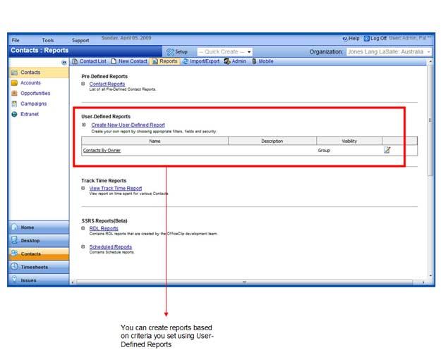 OfficeClip administración de contactos de pantalla-3