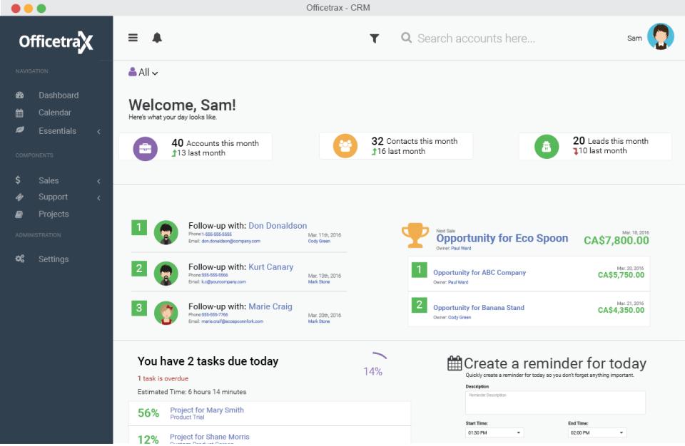 Officetrax CRM-pantalla-0