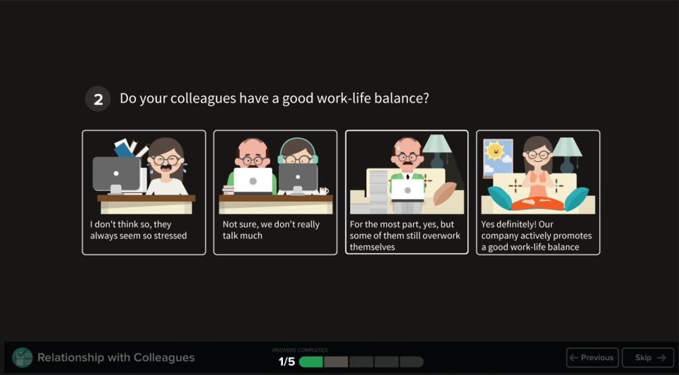 Officevibe de pantalla-4