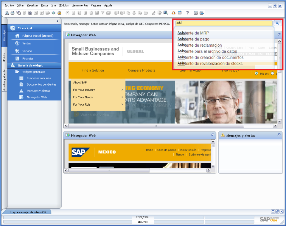 SAP Business One-pantalla-0