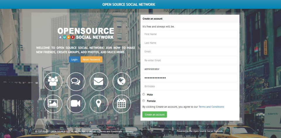 Social Open Source Network-pantalla-0