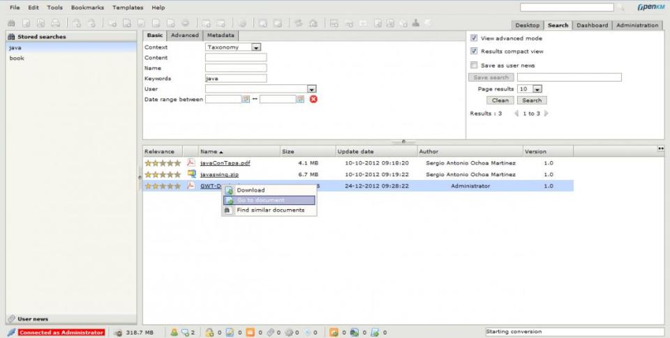 OpenKM de pantalla-1