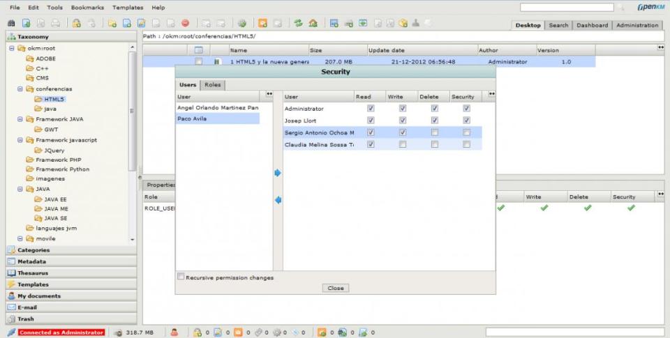 OpenKM de pantalla-2