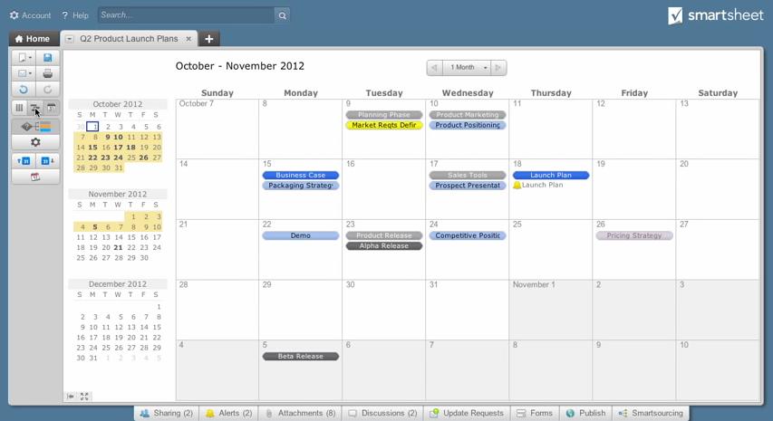 Smartsheet: Aplicación Móvil, Gantt, API, servicio Web