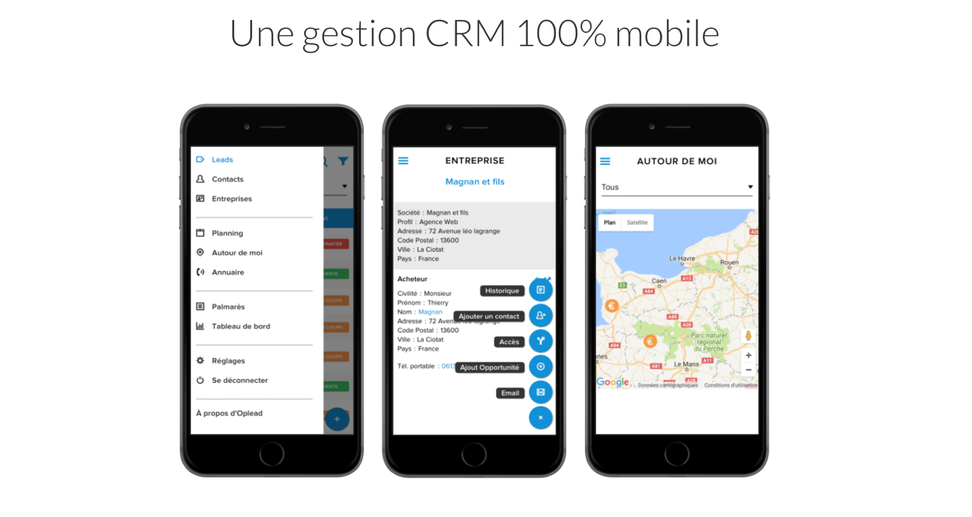 Mobile CRM Oplead