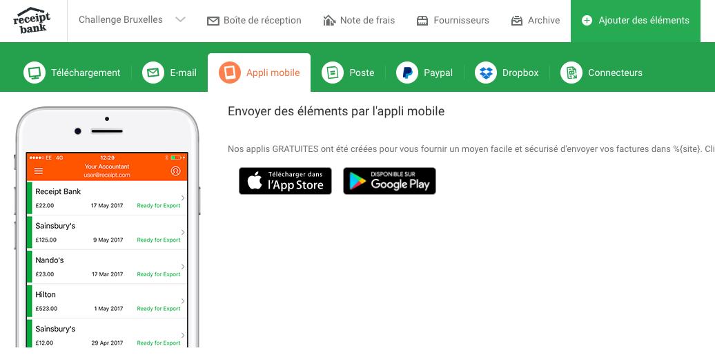 aplicación móvil