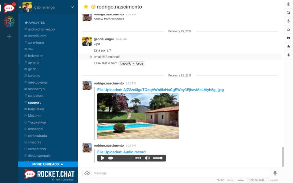 Rocket.Chat de pantalla-1