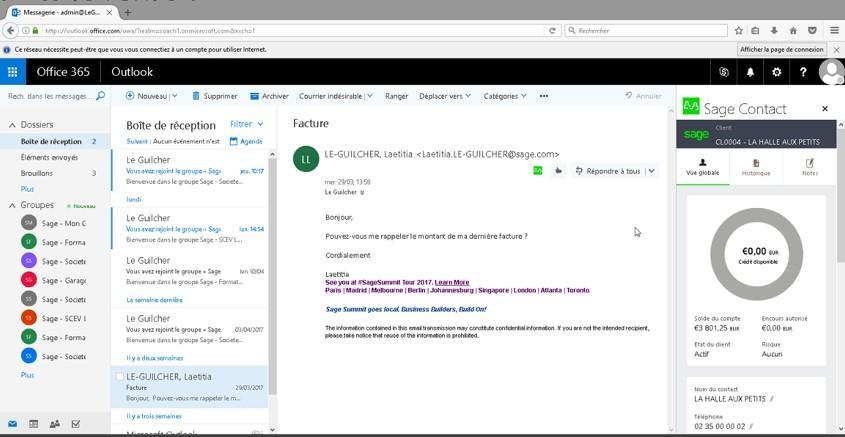Sage 50cloud Ciel-6_Accédez aux informations clients et fournisseurs grâce à Sage Contact
