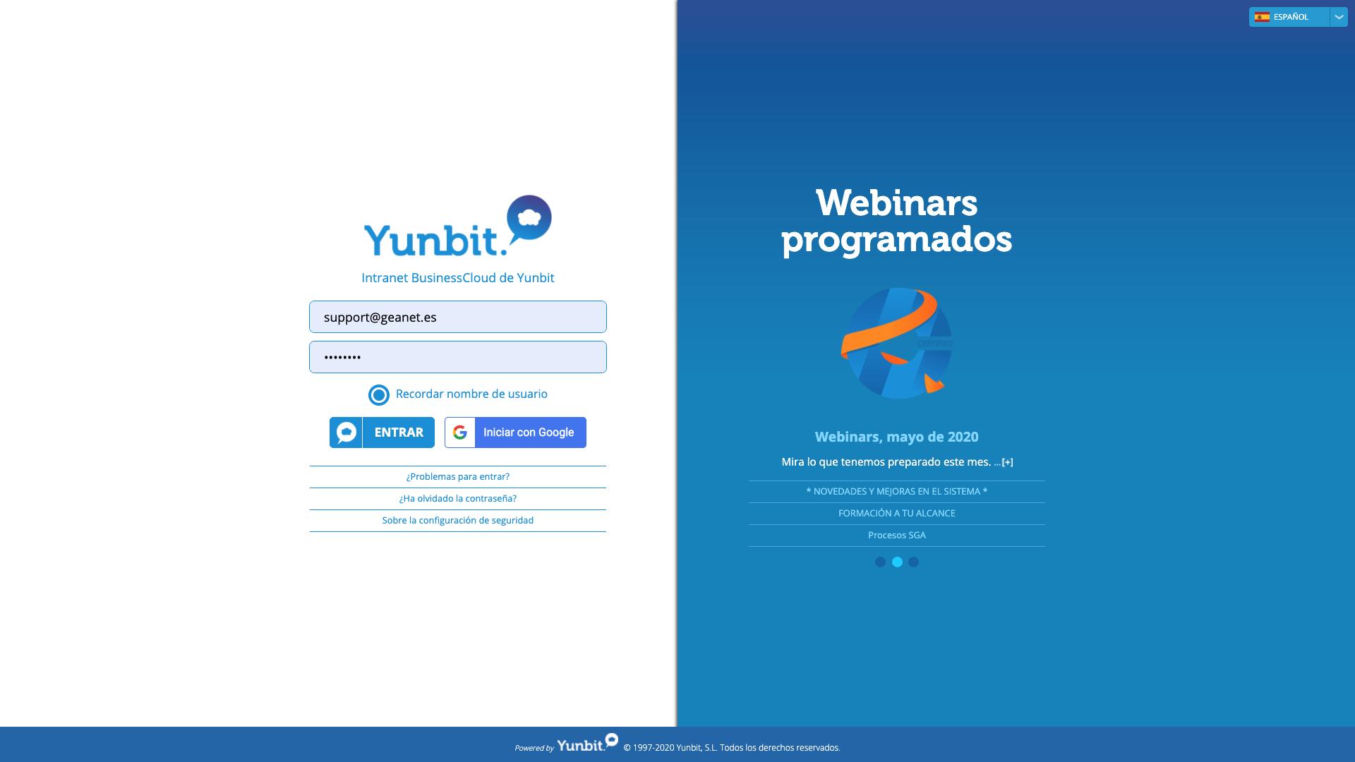 Opiniones Yunbit ERP Cloud: Yunbit Business Cloud, plataforma de gestión empresarial - appvizer