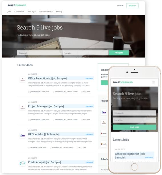 SmartJobBoard de pantalla-3