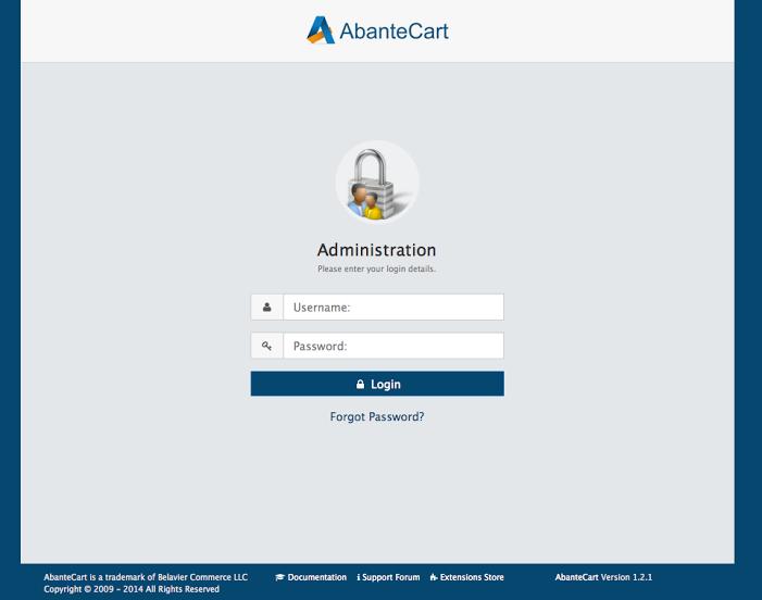 AbanteCart-pantalla-0