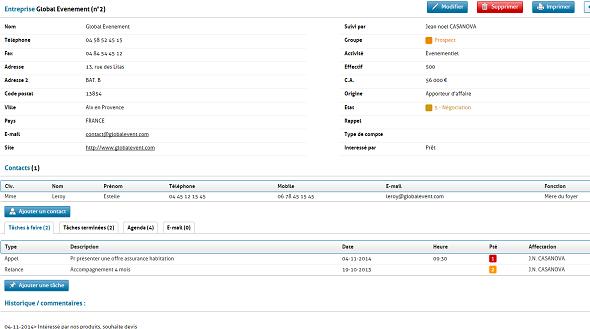 La gestión de tarjetas de contacto en contacto RCMP