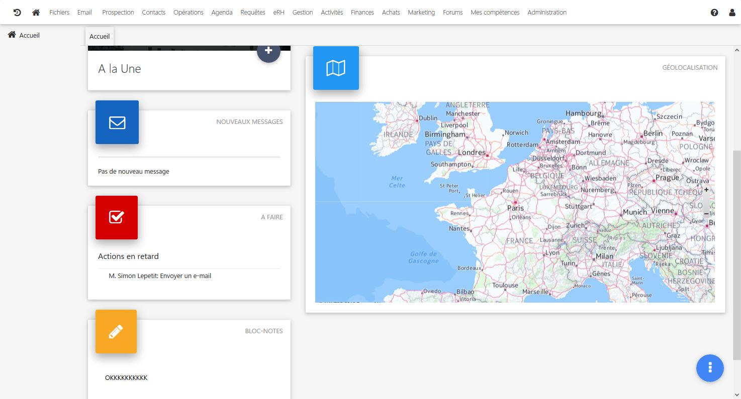 pantalla de inicio y geolocalización
