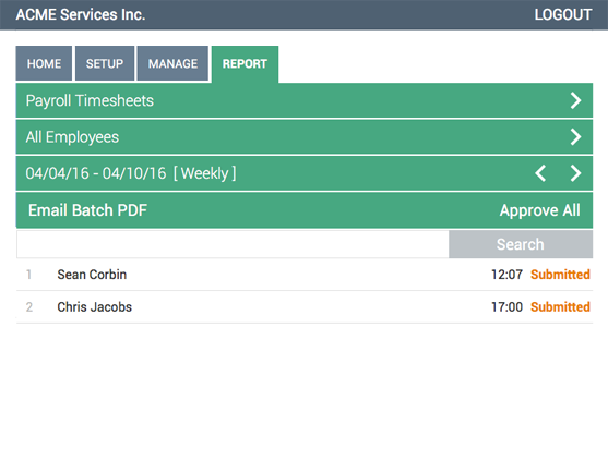 Webtimeclock de pantalla-2