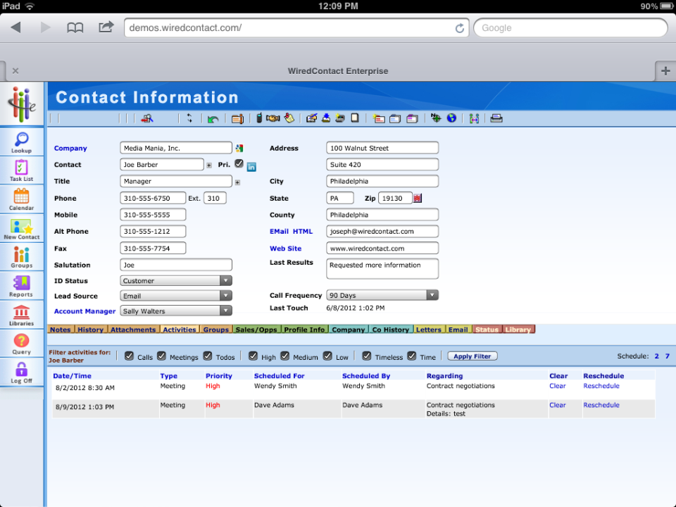 WiredContact Empresa-pantalla-0