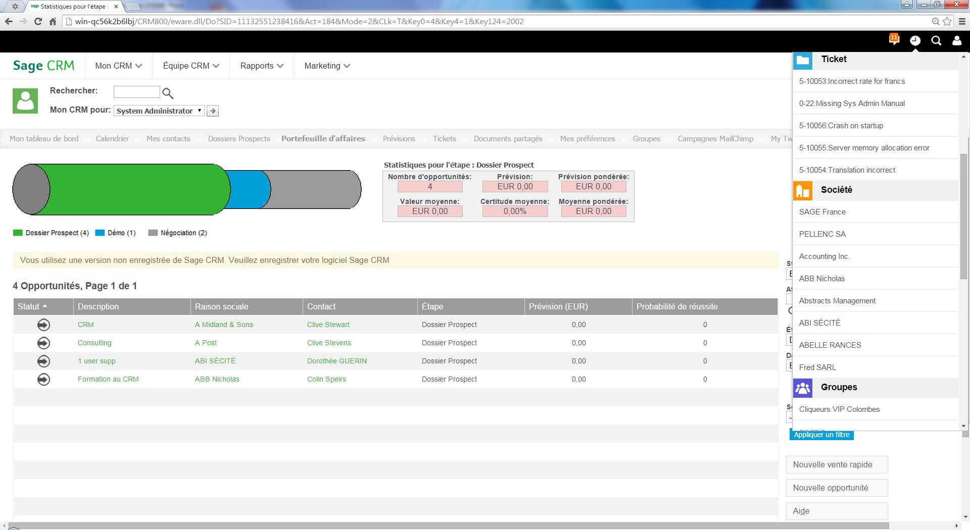 CRM: Interfaz web adaptativo, módulos básicos conocimiento wiki