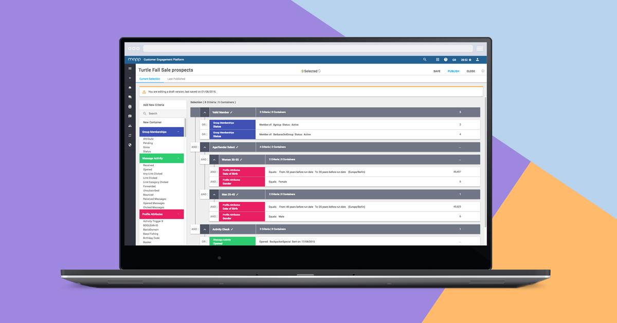 Opiniones Mapp Acquire: Recopila y crea segmentos de audiencia para una orientación - appvizer