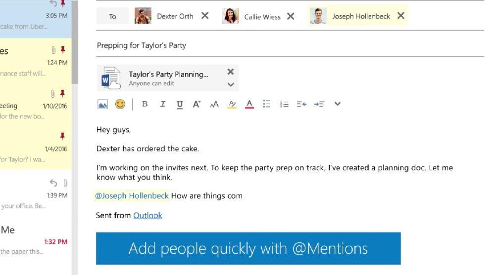 Cita y añadir un destinatario en Outlook
