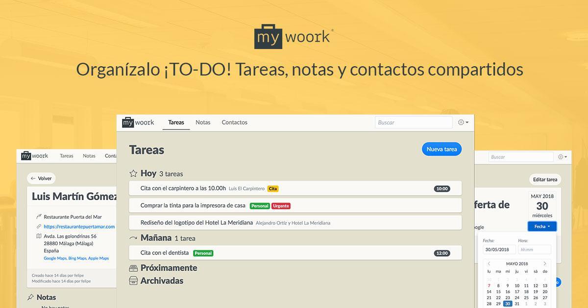 Opiniones Mywoork: Software gestor de tareas, notas y contactos compartido - appvizer