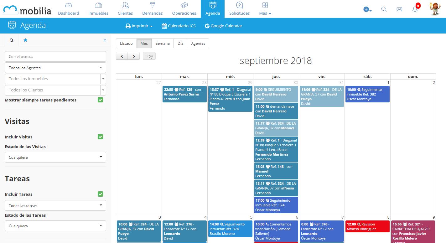 Agenda de tareas vinculada con Google Calendar