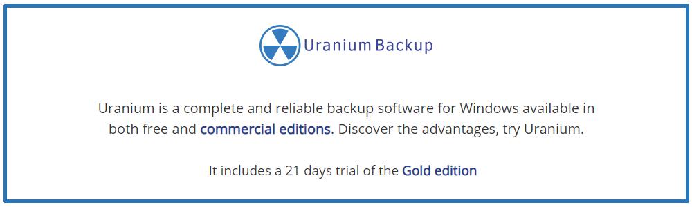 Opiniones Uranium Backup: Software de copia de seguridad compatible con Windows Server - Appvizer