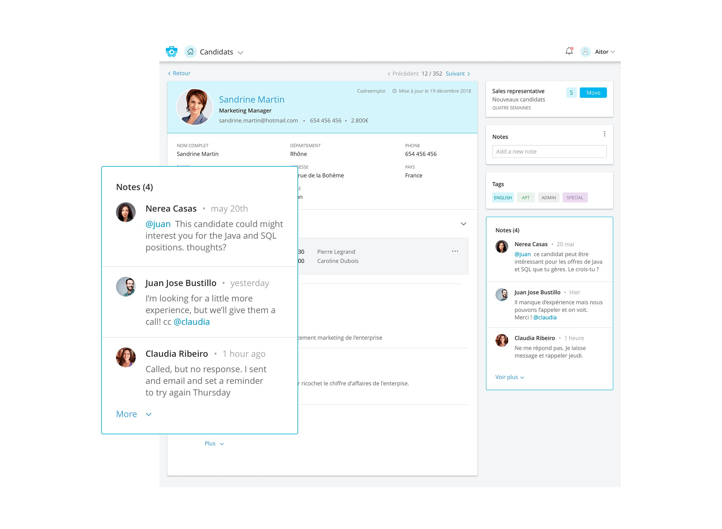 Optimiza los flujos de comunicación con miembros de tu equipo.