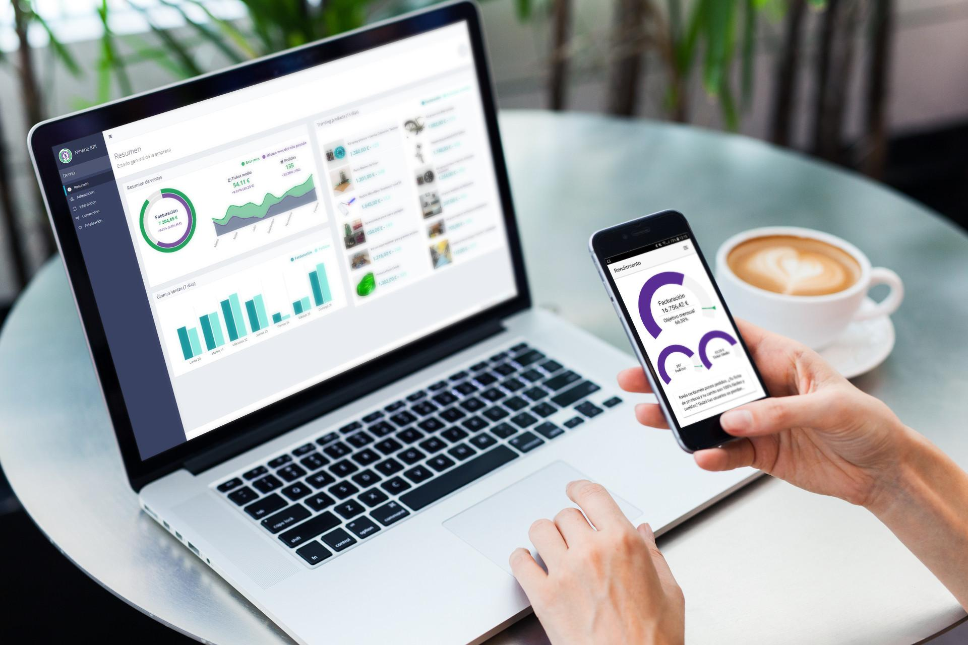 Opiniones Nirvine KPI: Analítica de ventas para tiendas online - Appvizer
