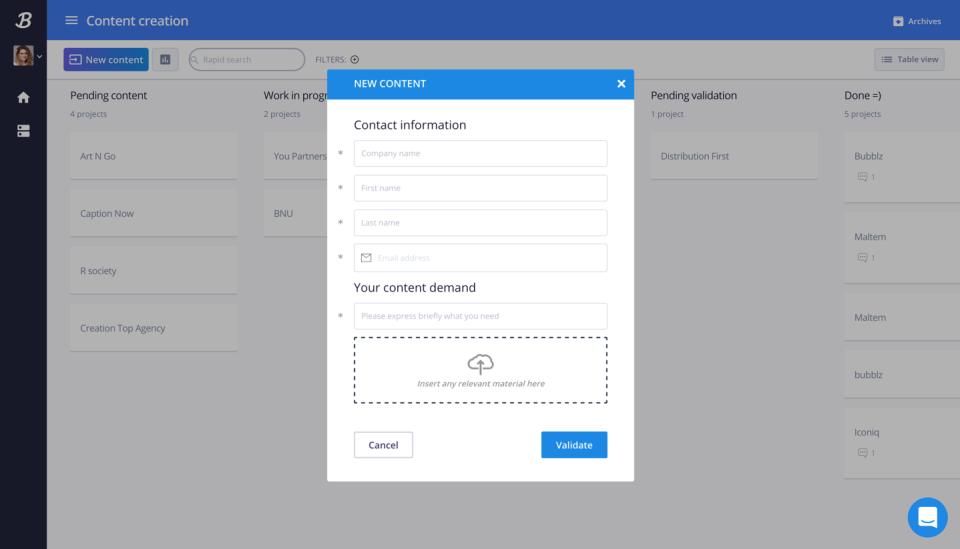El proceso se compone de un formato personalizable para ingresar los datos y automatizar acciones