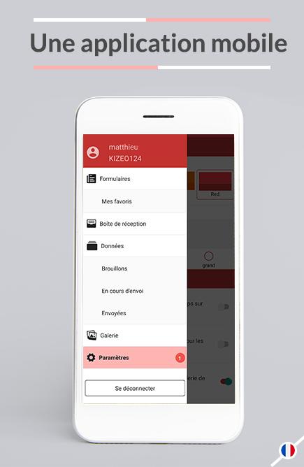 La saisie est facilitée puisque Kizeo Forms est pensé et conçu pour l'utilisation terrain sur mobiles et tablettes.