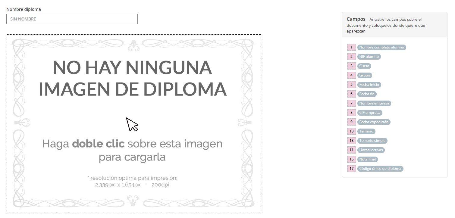 Diseño y personalización de Diplomas