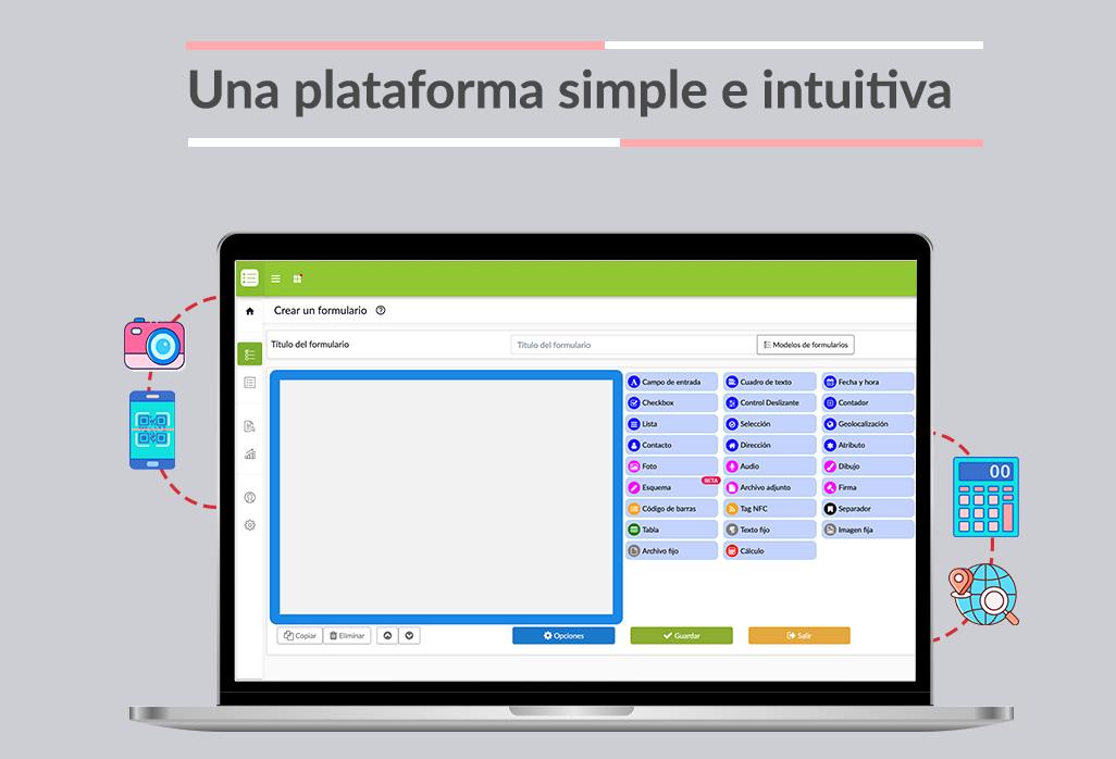 Desde la plataforma web, diseñe y comparta los formularios que necesite. Centralice toda la información capturada en terreno.
