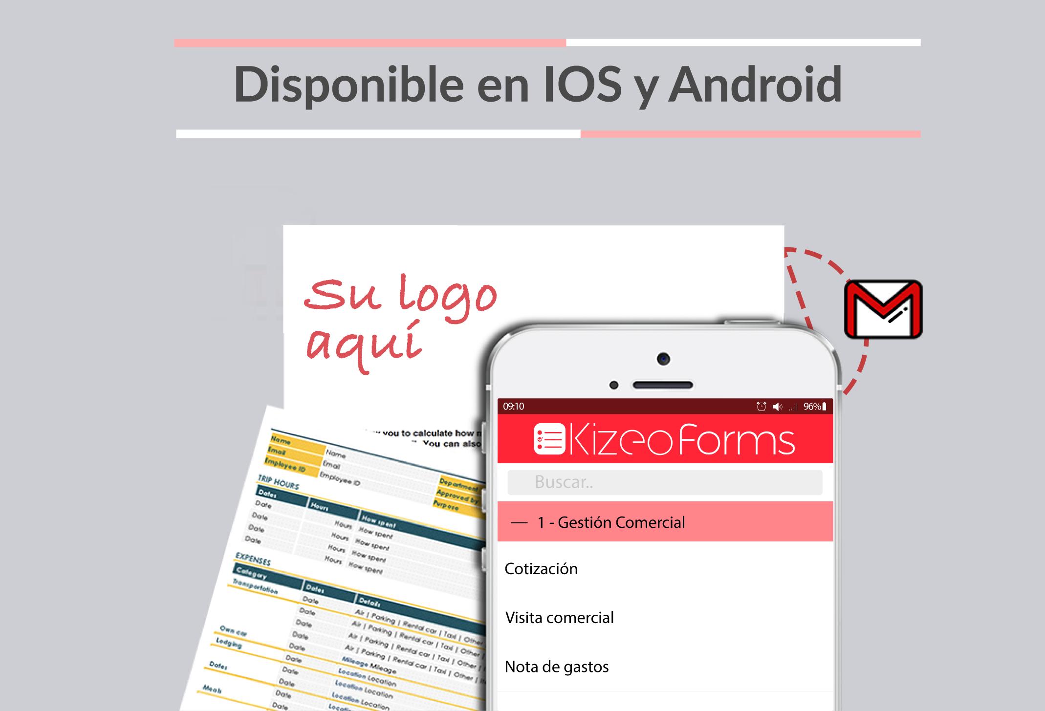 Con Kizeo Forms, el envío de datos es ilimitado (reportes, cotización, check-list).