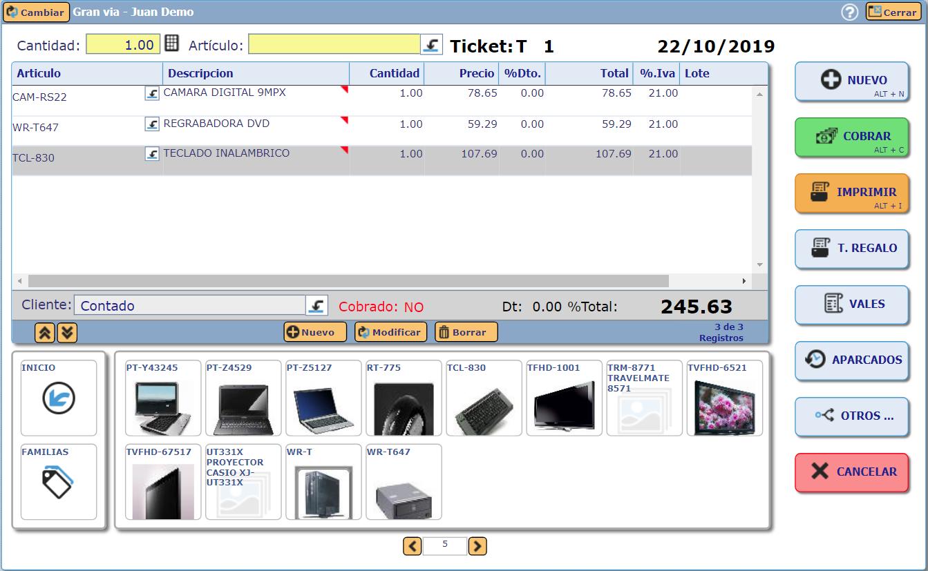 TPV Mostrador Online