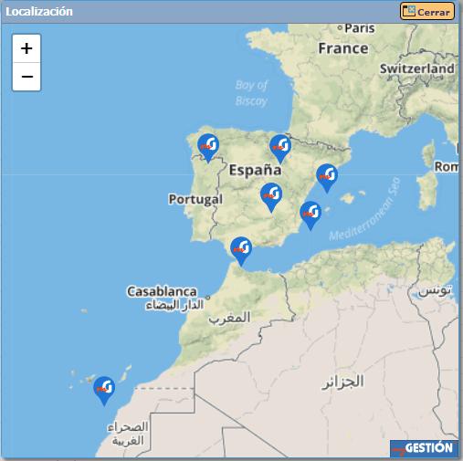 Control horario para trabajadores con geolocalización