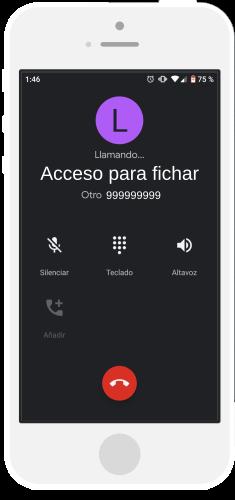 Fichar desde una llamada
